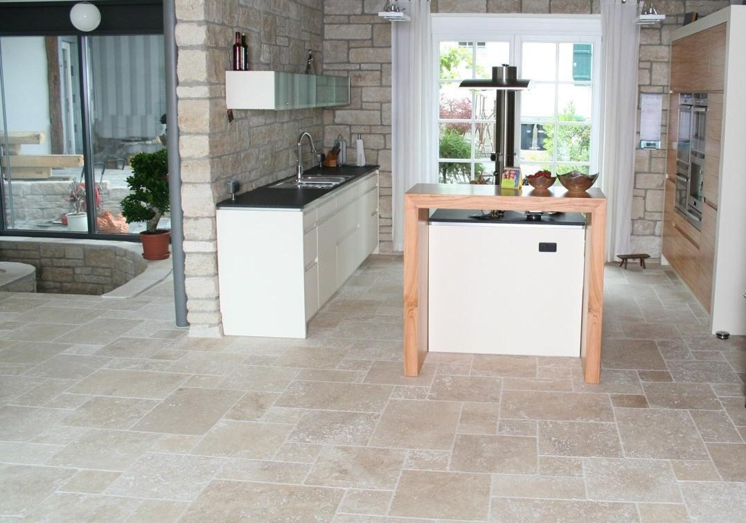 Travertin opus romain 4 format carrelage en pierre naturelle - Salle de bain travertin ...