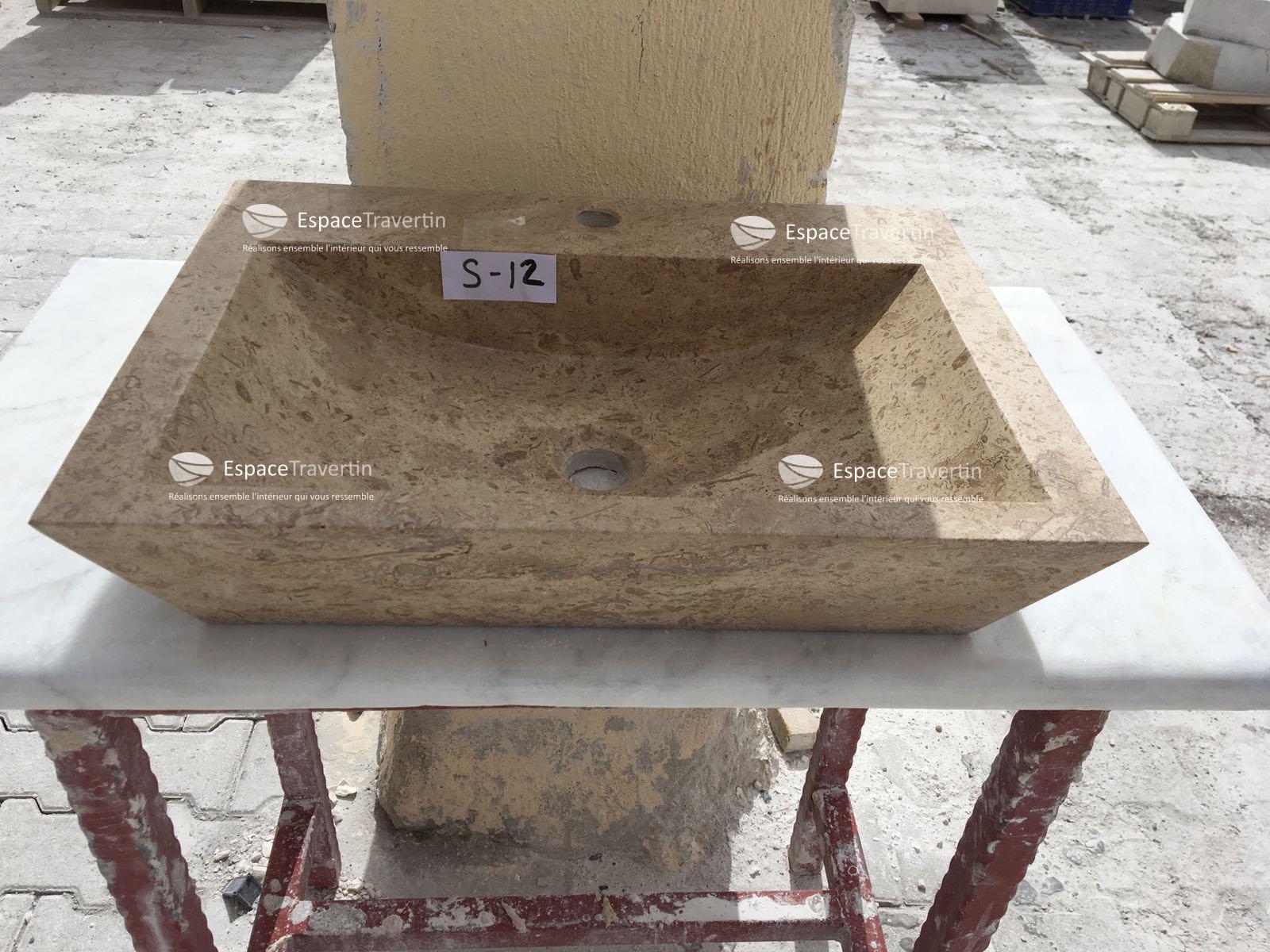 vasque travertin noce espace travertin. Black Bedroom Furniture Sets. Home Design Ideas