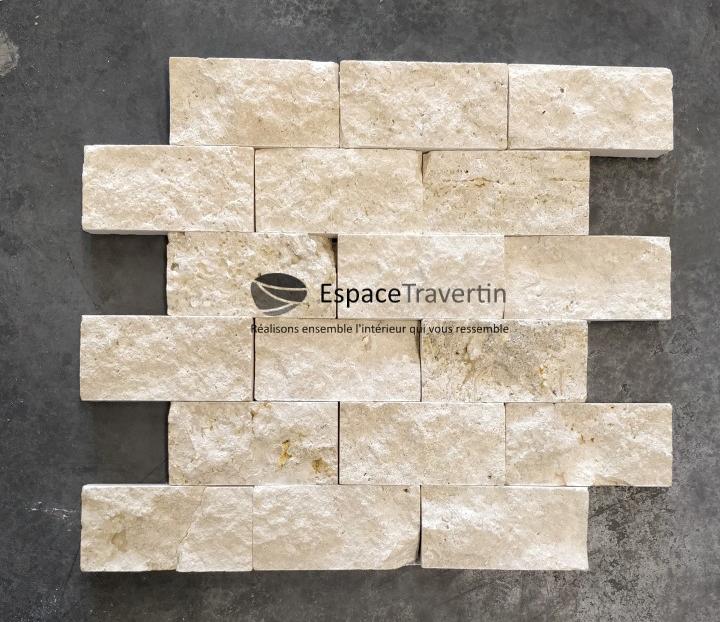 parement mural travertin beige espace travertin. Black Bedroom Furniture Sets. Home Design Ideas